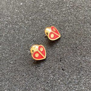 Kate Spade Cute Little Ladybug Earrings